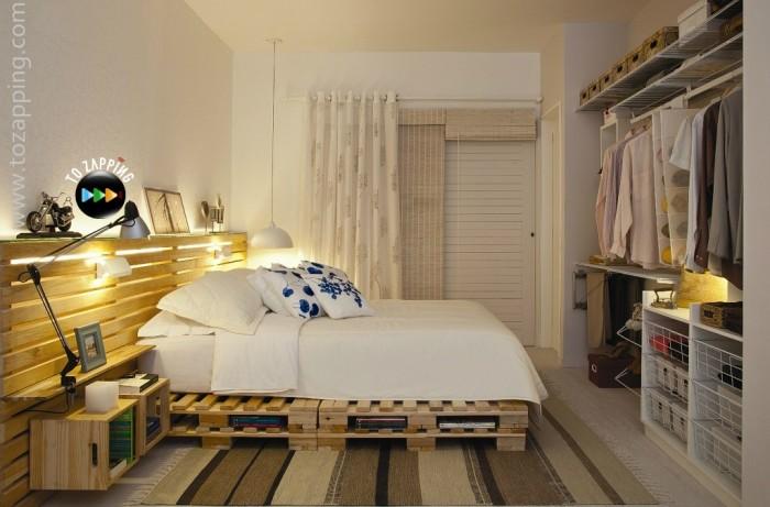 Ideas para hacer muebles reciclados cama con palets for Como hacer una cama con cajones