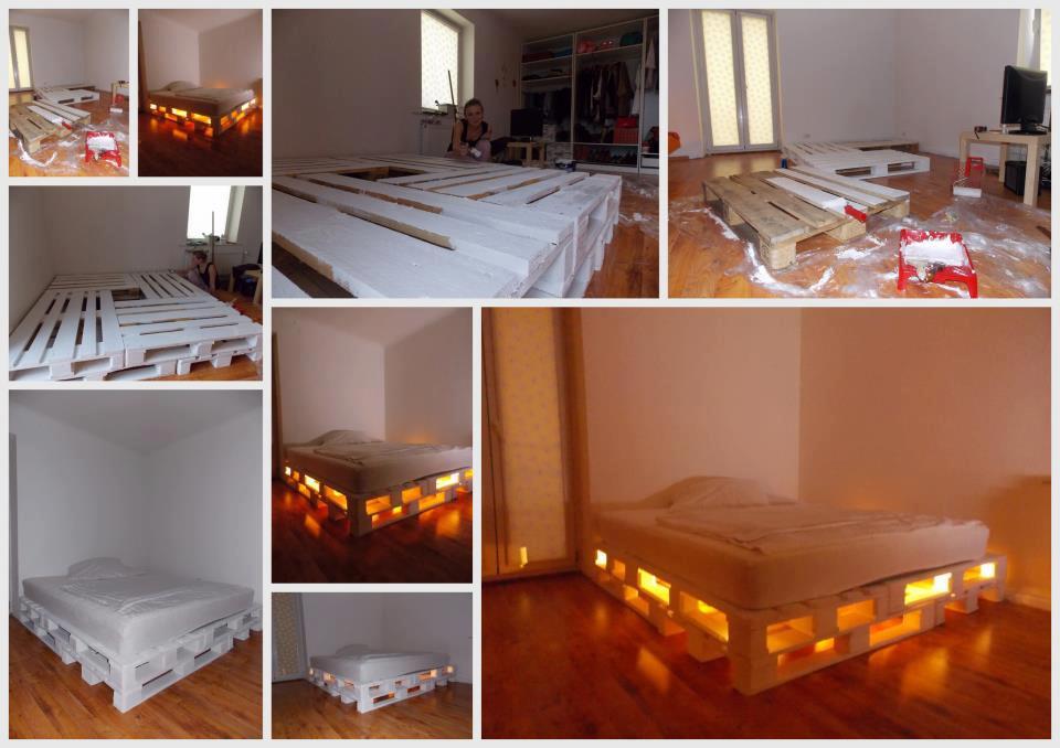 camas hechas con pallets de madera