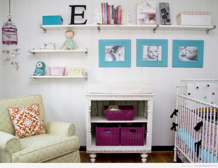 Repisa en cuartos para bebes - Ideas para decorar dormitorio de bebe ...