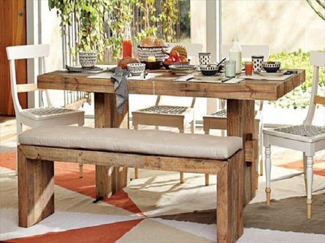 Ideas hechas con palets para el comedor ideas de mesas - Mesas hechas con palets ...