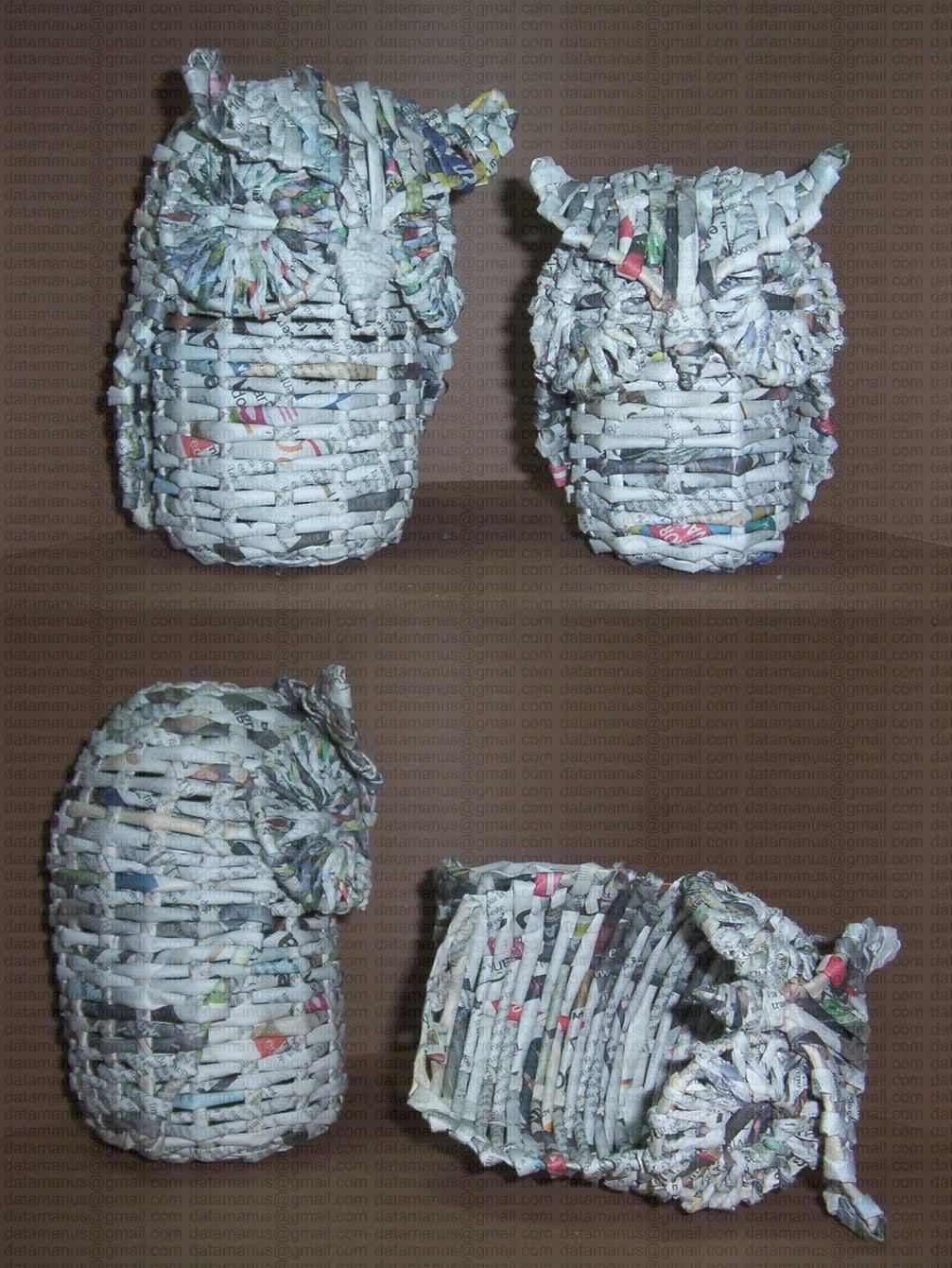 C mo reciclar papel de diario y hacer cosas para la casa - Manualidades para realizar en casa ...