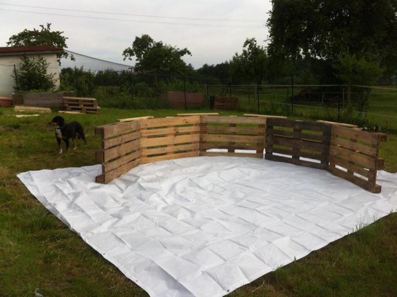 Reutilizar palets para hacer muebles r sticos para la casa for Como hacer una piscina
