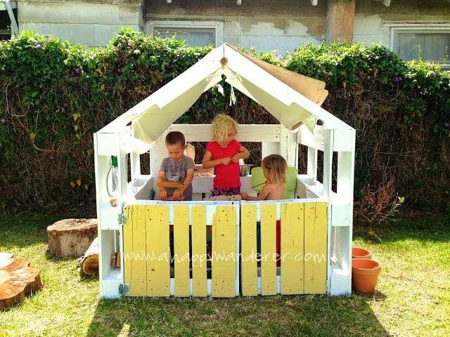 M s de 50 ideas de c mo hacer con palets muebles modernos for Casitas de jardin infantiles