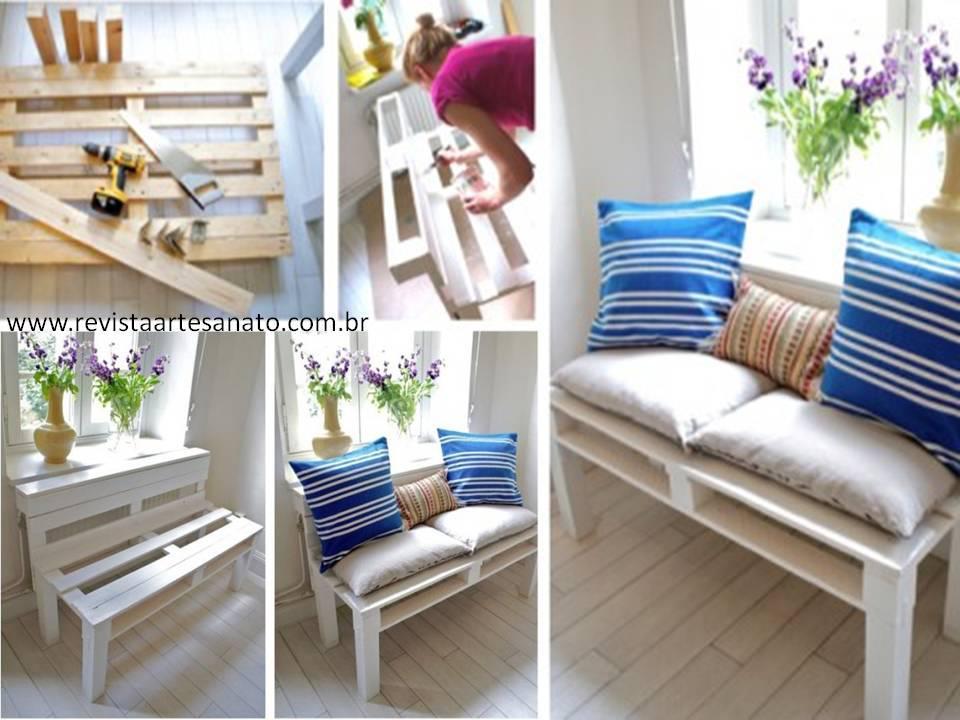 banca hecha con palets paso a paso moviliario para decoracion de interiores reutilizando materiales
