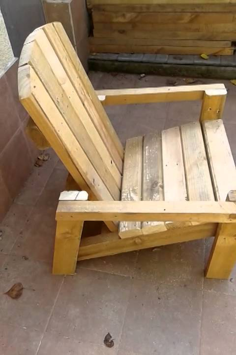 Ideas super originales para hacer sillas con palets - Sillas con palets ...