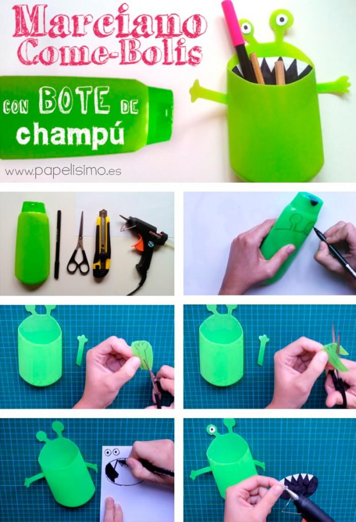Como-hacer-un-lapicero-reciclando-un-bote-de-champu