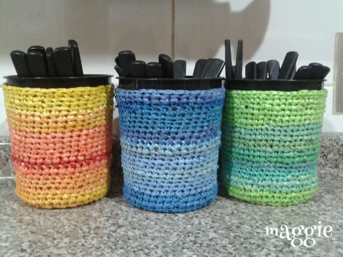30 im genes con ideas para reciclar bolsas de plastico - Reciclar cosas para decorar ...