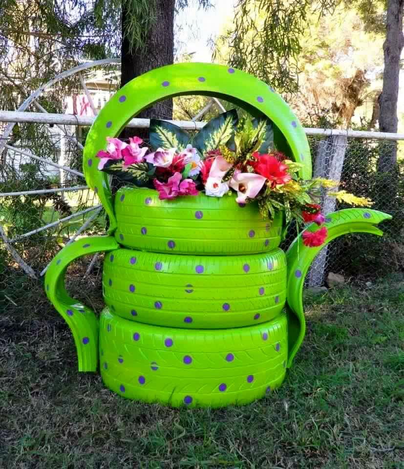 Mas de treinta ideas para reciclar llantas ecolog a hoy for Reciclar cosas para decorar
