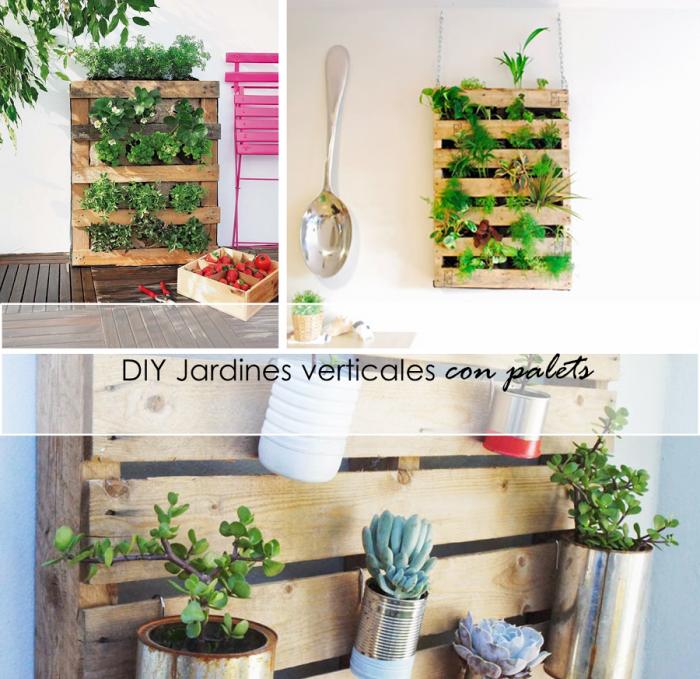 Im genes con ideas para decorar el jard n con palets - Jardin vertical con palets ...