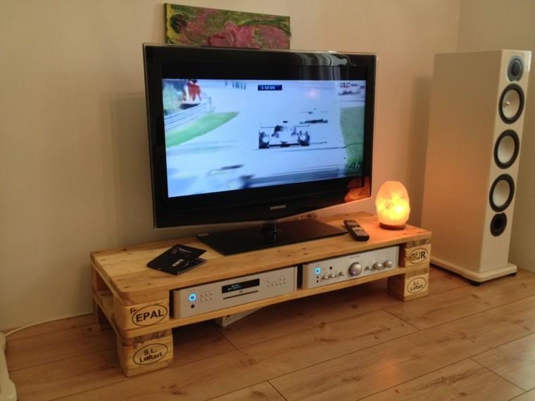 Imagenes con ideas para hacer muebles con palets para el for Mueble salon palets