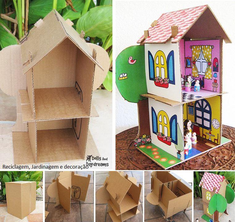 como hacer una casa de muñecas de carton tutorial grafico para realizar paso a paso juguetes con material reutilizable