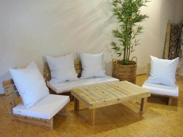 Imagenes con ideas para hacer muebles con palets para el living