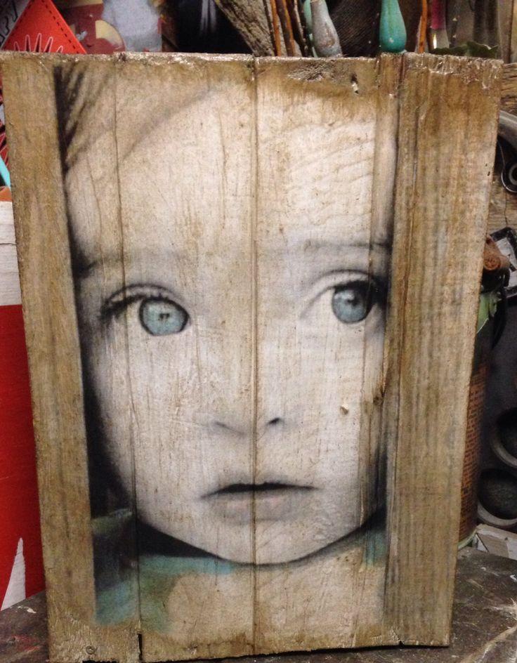 40 im genes de cuadros hechos con palets reciclados - Transferir fotos a madera ...