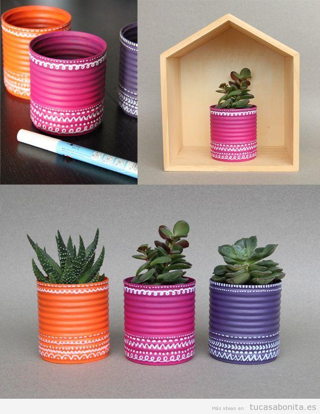 Macetas-con-latas-decoradas