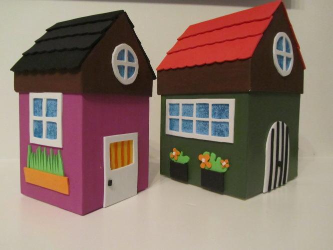 Im genes con ideas de casas hechas de carton ecolog a hoy - Cajas de carton pequenas decoradas ...