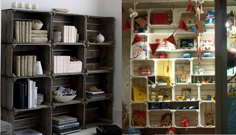 Ideas super originales para hacer bibliotecas con palets ...