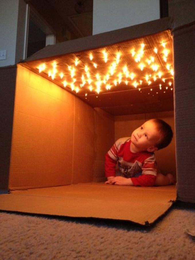 Im genes con ideas de casas hechas de carton ecolog a hoy for Cajas de carton infantiles