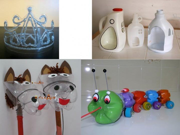 Juguetes para niños hechos con botellas recicladas – Ecología Hoy