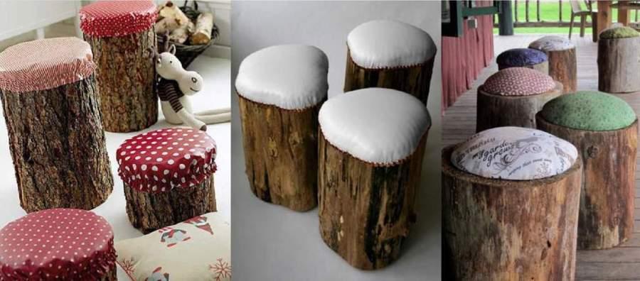 banco para jardim natal rn: muebles para el exterior del hogar hechos con troncos de madera
