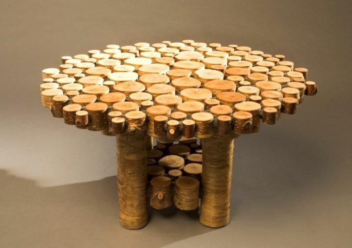 Bancos y sillas hechos con troncos ideas super originales for Mesas de troncos de arboles