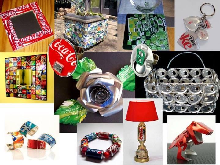 idea de un Pikachu hecho solo con latas de refrescos recicladas
