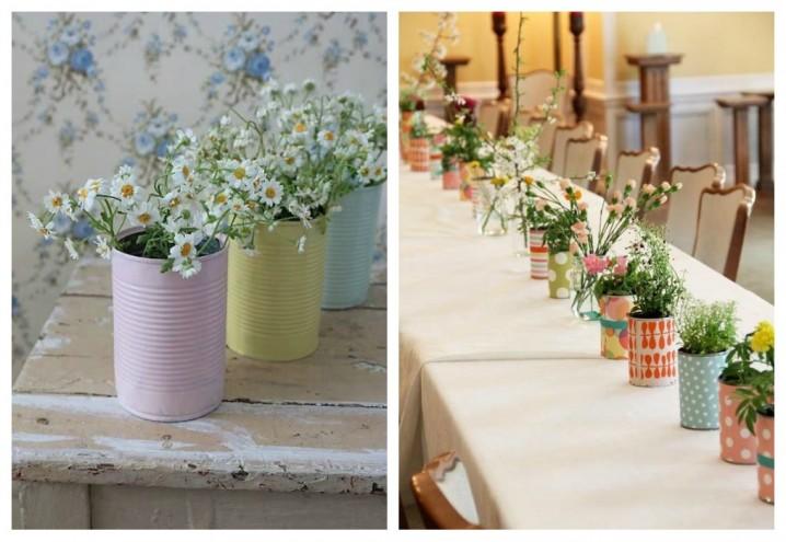 45 centros de mesa para bodas con materiales reciclados - Ideas para decorar con materiales reciclados ...