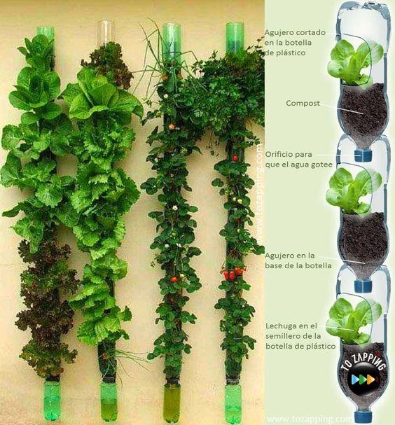 16-ideas-para-reciclar-botellas-de-plastico-huerto-vertical