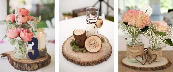 Recuerdos Para Matrimonio Rustico : Centros de mesa para bodas con materiales reciclados