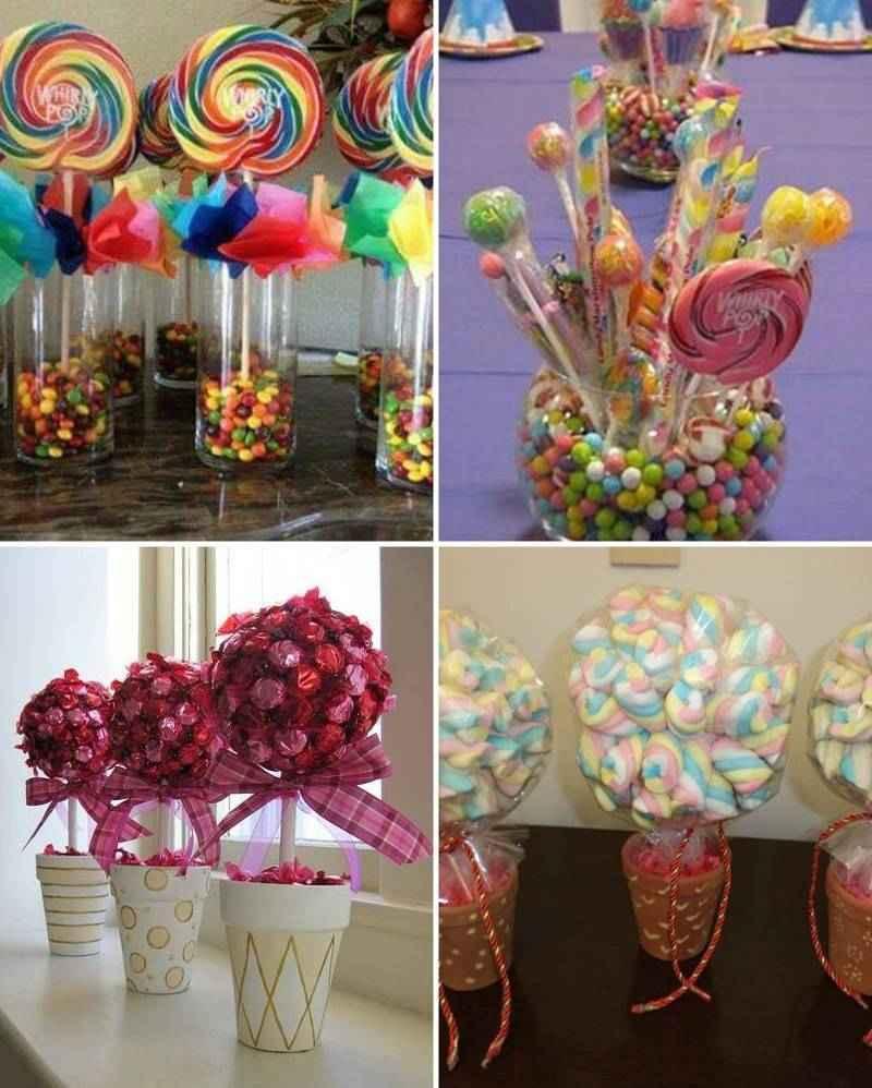 45 centros de mesa para bautizo modernos originales y for Backdrop para mesa de dulces