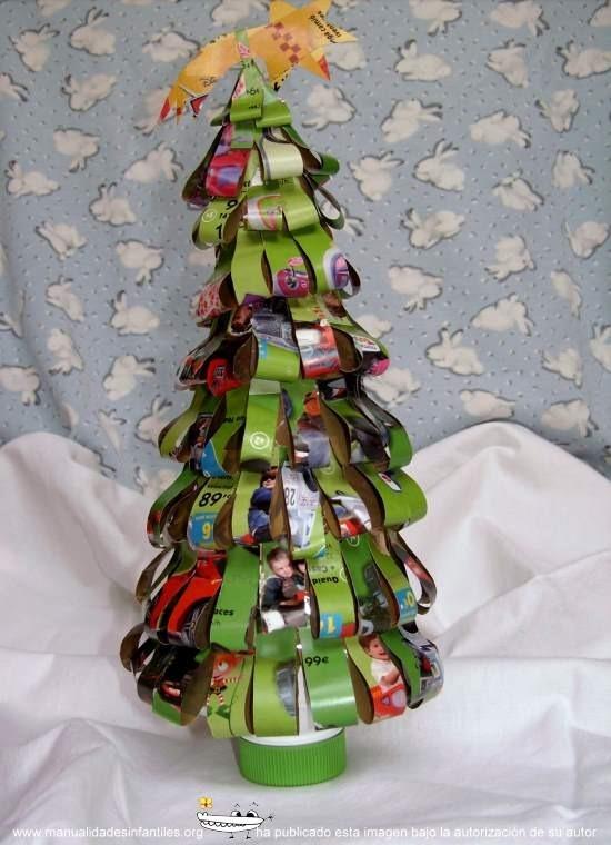 45 rboles de navidad con reciclados para ni os ecolog a hoy - Arbol de navidad infantil ...
