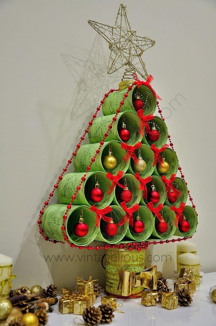 Arbol de navidad reciclado manualidades my blog for Adornos arbol navidad online