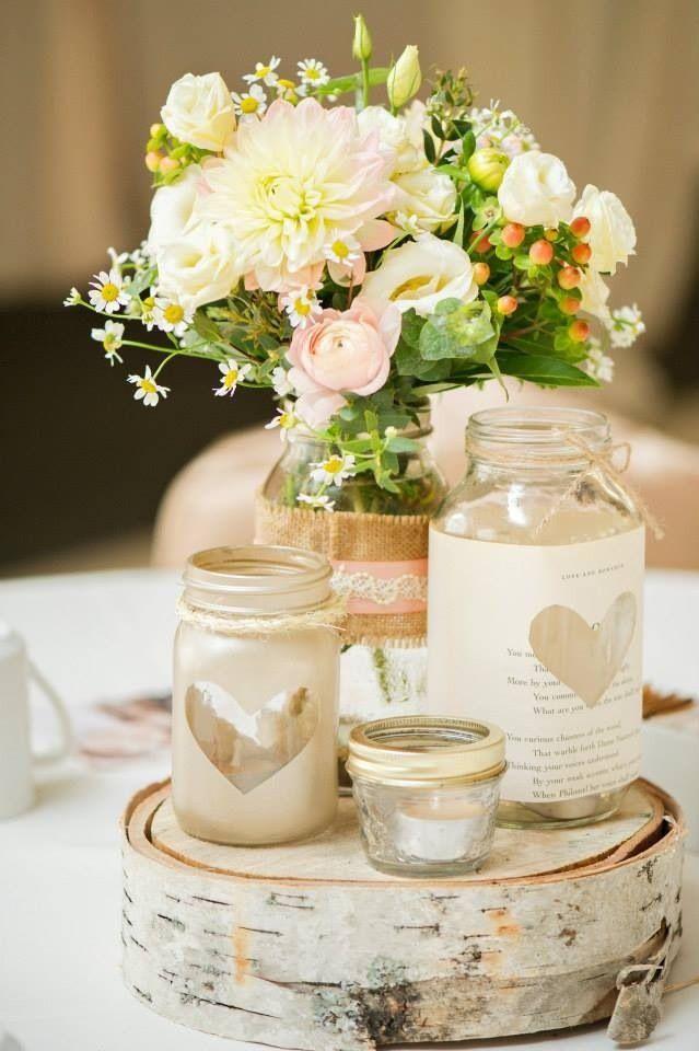 Centros De Mesa Para Casamiento Con Botellas Frascos Y