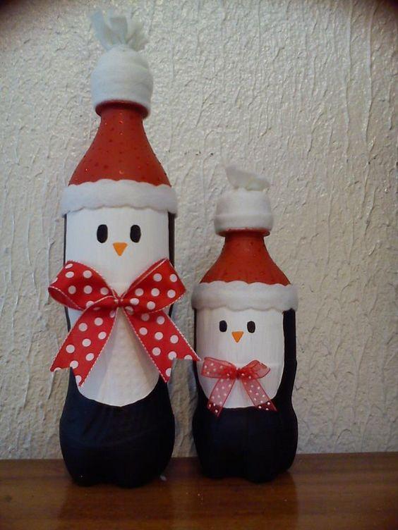 Decoraci n navide a con papel frascos pi as telas y botellas recicladas ecolog a hoy - Adornos navidad reciclados para ninos ...