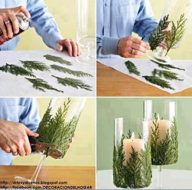 diy-centro-de-mesa-para-navidad-con-hojas
