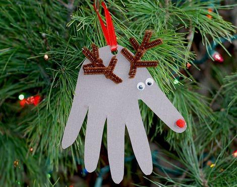 adornos navidad caseros reno