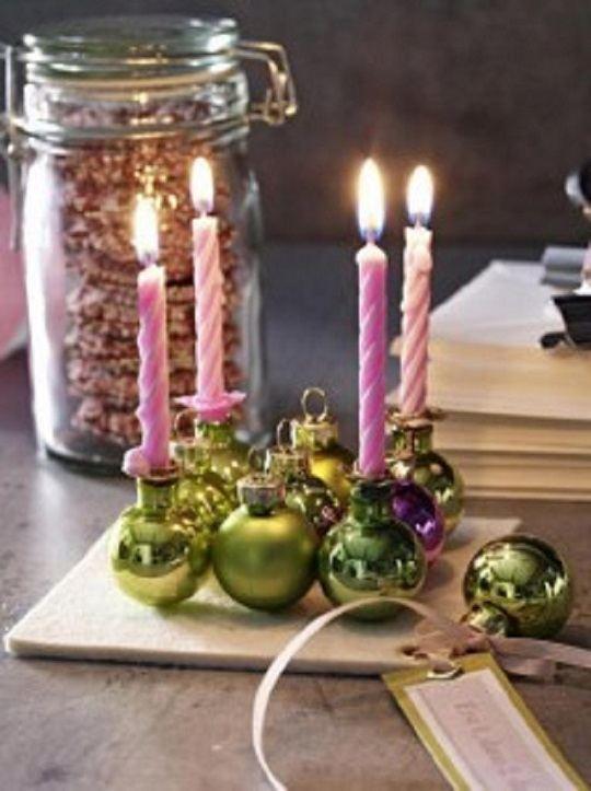 Centros de mesa navide os con materiales reciclados - Centro de mesa navidad ...