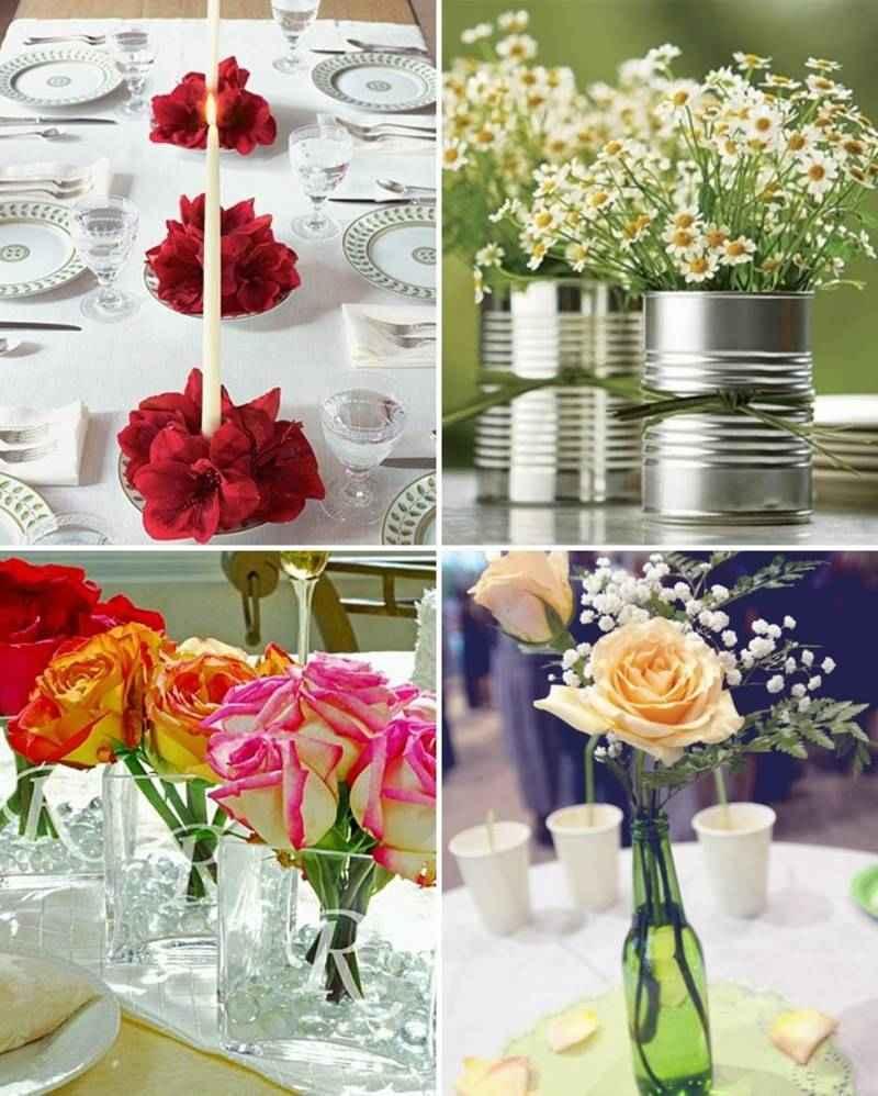 Centros de mesa para boda reciclados muy originales y - Merkamueble mesas de centro ...