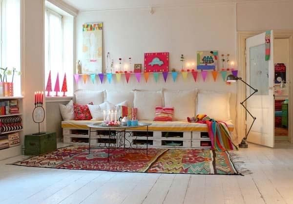 Salas modernas decoradas con dise os reciclados 45 fotos - Ideas con palets ...