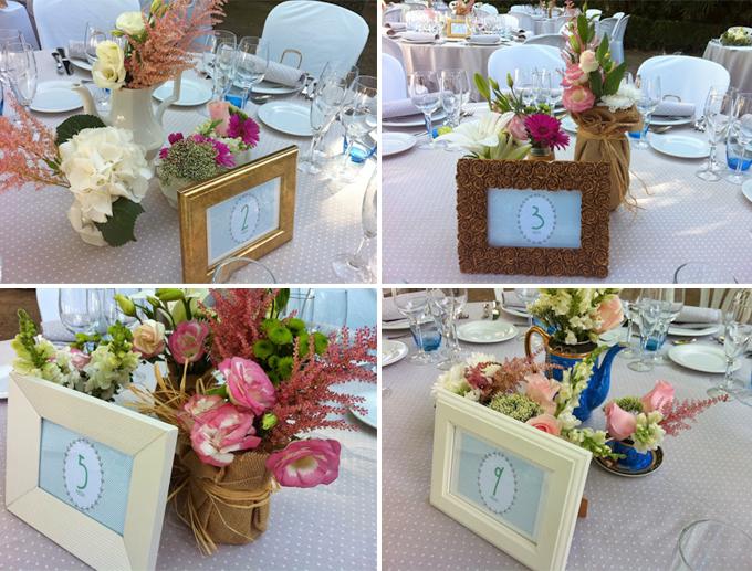 Centros de mesa para boda reciclados muy originales y - Mesas centro originales ...