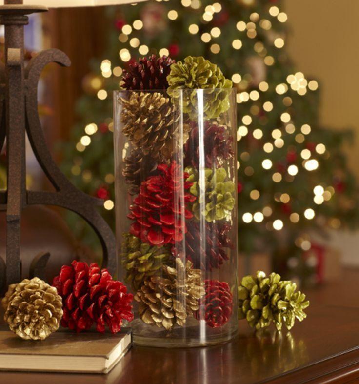 mesas de navidad y ao nuevo decoradas con pias