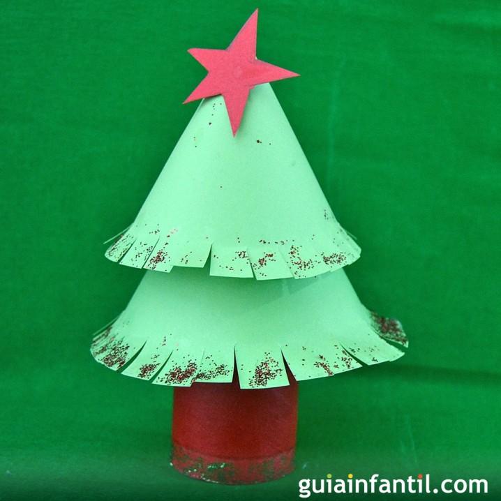 Adornos para navidad reciclados con materiales de desecho - Arbol de navidad para ninos ...