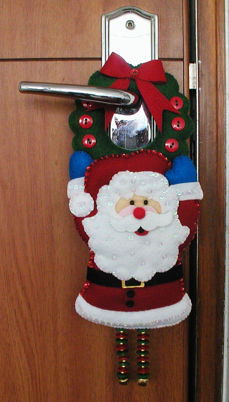 decoracin y con tela para navidad