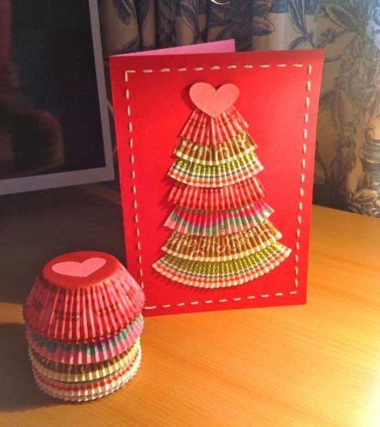 Manualidades de navidad tarjetas recicladas y originales - Manualidades originales de navidad ...