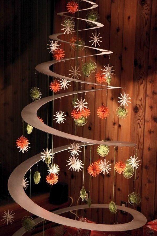 esta idea de arbolito navideo es super moderna y sumamente fcil de hacer como habrs visto en las imgenes que te mostramos hasta ahora los materiales
