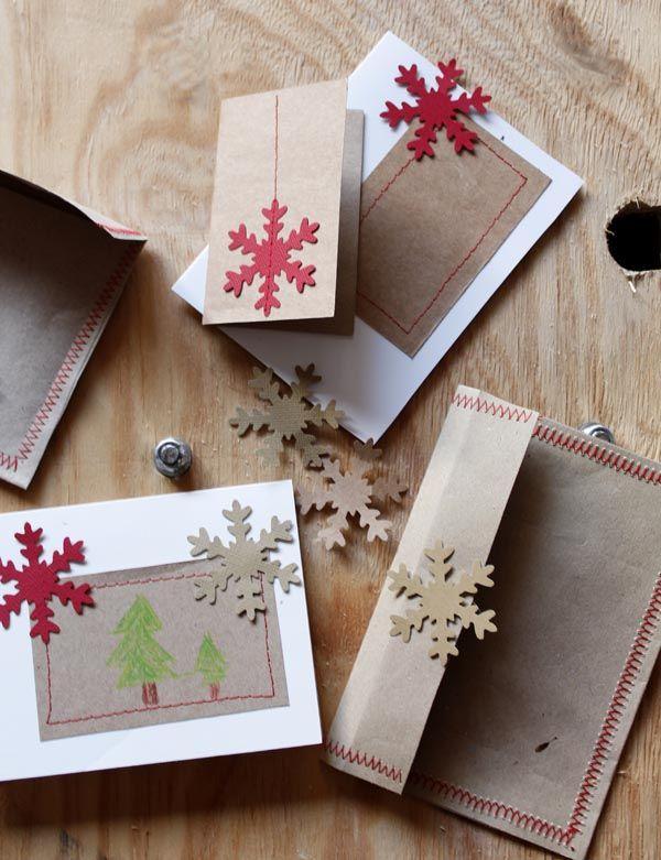 Tarjetas de navidad originales tarjetas postales muy - Decorar postales de navidad ...