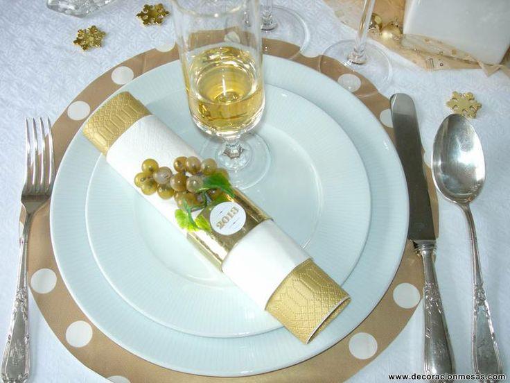 C mo decorar reciclando la mesa para navidad y a o nuevo - Decoracion fin de ano ...