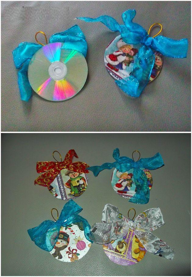 como-hacer-adornos-de-navidad-con-cd