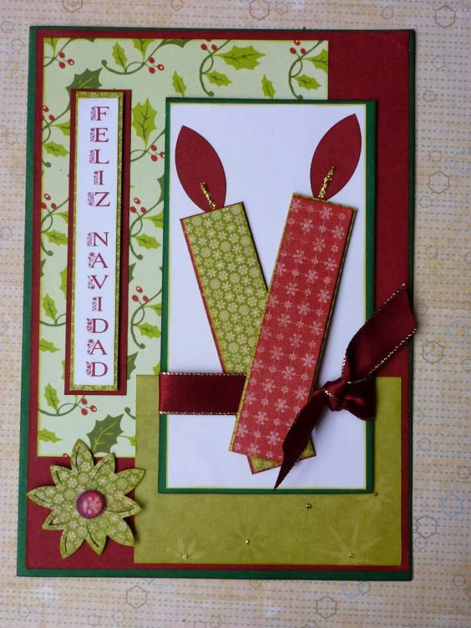 Manualidades de navidad tarjetas recicladas y originales - Tarjeta de navidad manualidades ...