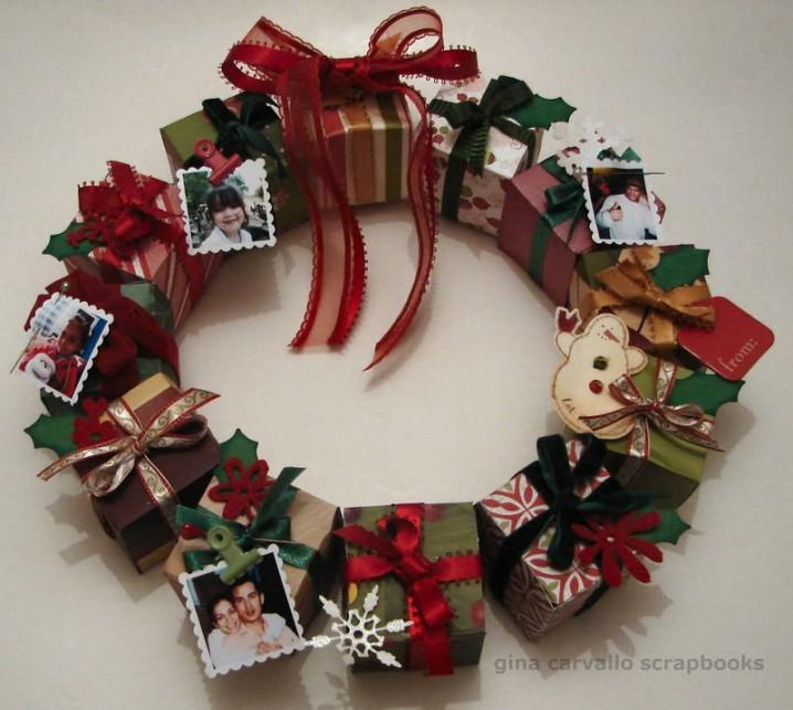 Coronas de navidad recicladas ideas originales ecolog a hoy for Cosas navidenas para hacer en casa