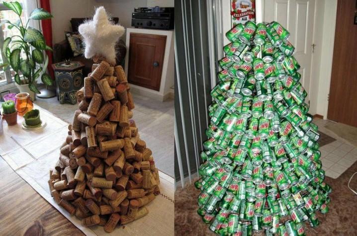 Decoraci n navide a con reciclaje adornos centros de - Decoracion navidena artesanal ...